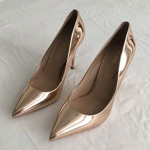 NEW ALDO Rose Gold Pumps